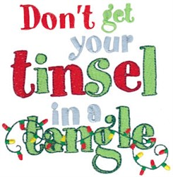 Tinsel In Tangle embroidery design