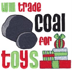 Coal For Toys embroidery design