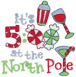 At North Pole embroidery design