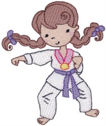 Karate Kid Girl embroidery design