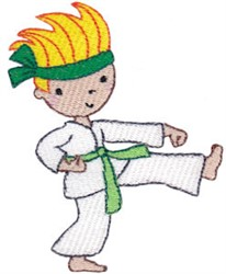 Karate Kid Boy embroidery design