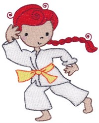 Karate Girl Kid embroidery design