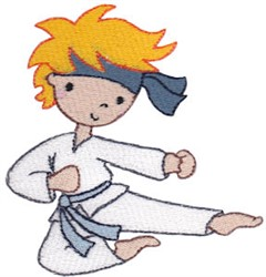 Karate Boy Kid embroidery design