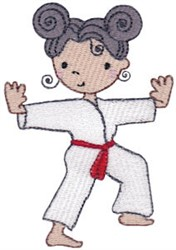 Karate Girl embroidery design