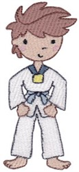 Karate Boy embroidery design