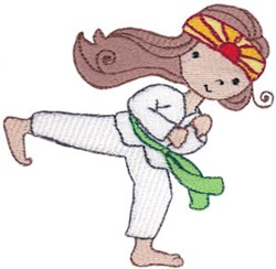Martial Art Girl embroidery design