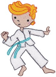 Martial Art Boy embroidery design