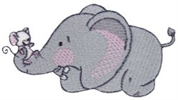 Mouse & Elephant embroidery design
