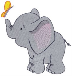 Elephant & Butterfly embroidery design