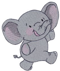 Happy Elephant embroidery design