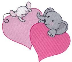 Elephant Love embroidery design