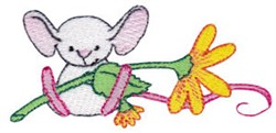 Mouse & Daisy embroidery design