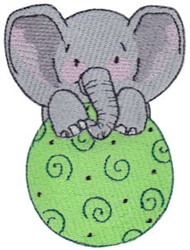 Elephant & Ball embroidery design