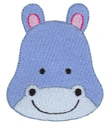 Hippo Face embroidery design