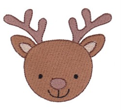 Deer Face embroidery design