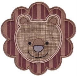 Lion Face Applique embroidery design