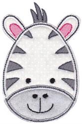 Zebra Face Applique embroidery design