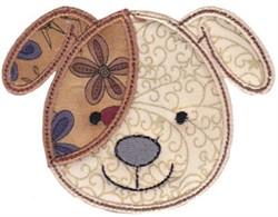 Dog Face Applique embroidery design