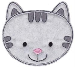 Cat Face Applique embroidery design