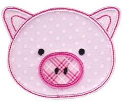 Pig Face Applique embroidery design