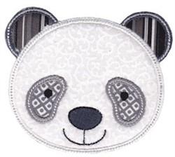Panda Face Applique embroidery design