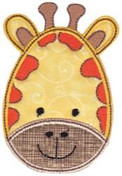 Giraffe Face Applique embroidery design