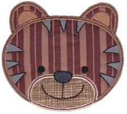 Tiger Face Applique embroidery design