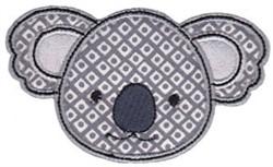 Koala Face Applique embroidery design