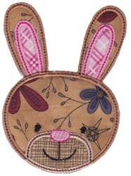 Rabbit Face Applique embroidery design