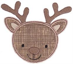Deer Face Applique embroidery design