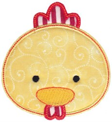 Chicken Face Applique embroidery design