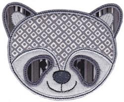 Raccoon Face Applique embroidery design