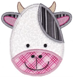 Cow Face Applique embroidery design