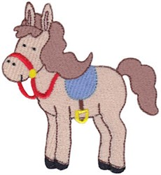 Saddled Horse embroidery design