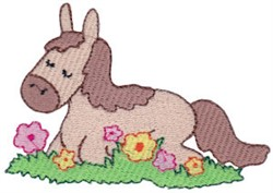 Flower Horse embroidery design