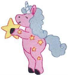 Star Unicorn embroidery design