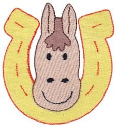 Horseshoe Horse embroidery design