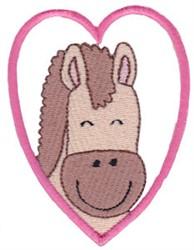Horse Head Heart embroidery design