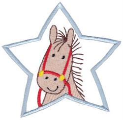 Star Horse embroidery design