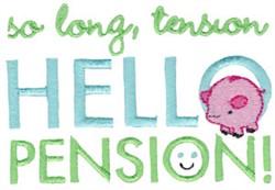 Hello Pension embroidery design