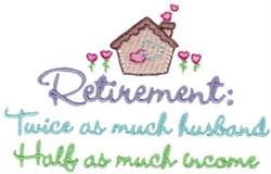 Retirement Income embroidery design