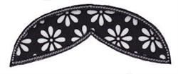Applique Moustache embroidery design