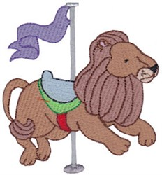 Carousel Lion embroidery design