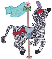 Carousel Zebra embroidery design