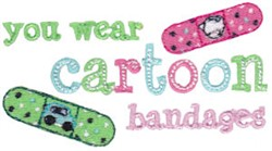 Cartoon Bandages embroidery design