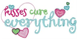 Kisses Cure Everything embroidery design