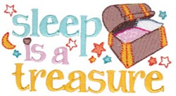 Sleep Is Treasure embroidery design