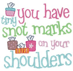 Snot Marks embroidery design