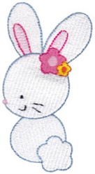 White Bunny embroidery design