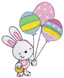 Balloon Rabbit embroidery design